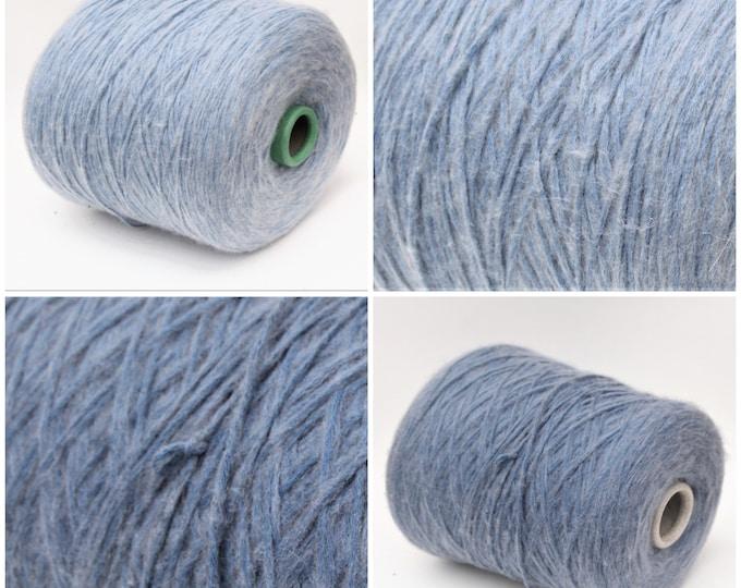 Cotton/wool merino worsted weight yarn on cone, knitting yarn, weaving yarn, crochet thread
