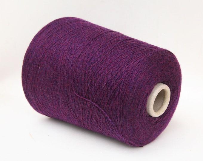 Cashmere/cotton/wool merino yarn on cone, per 100g