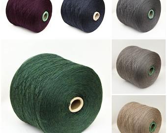 100% wool merino fingering weight yarn on cone, knitting yarn, weaving yarn, crochet yarn