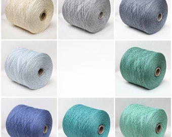 Cashmere/cotton sport weight yarn on cone, knitting yarn, weaving yarn, crochet thread