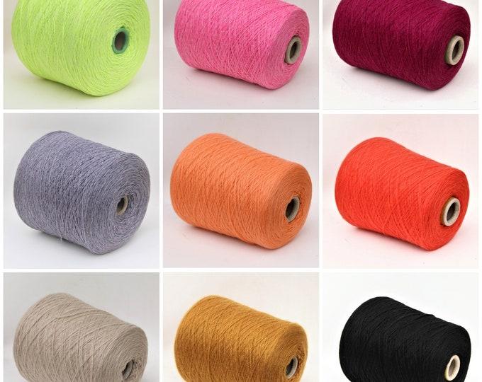 100% cashmere sock weight yarn on cone, knitting yarn, weaving yarn, crochet thread