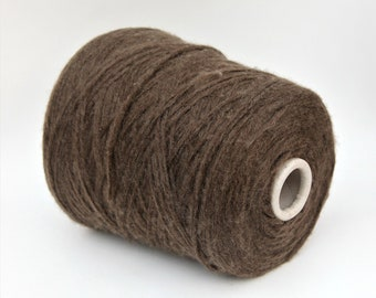 Yak blend yarn on cone, light worsted yarn for knitting, weaving and crochet, per 100g