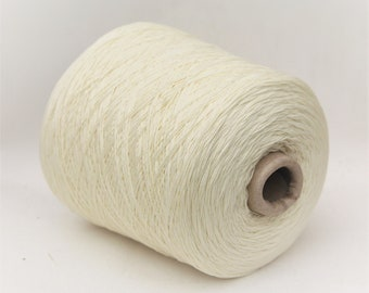 Cashmere/silk/wool merino undyed sock weight yarn on cone, knitting yarn, weaving yarn, crochet thread