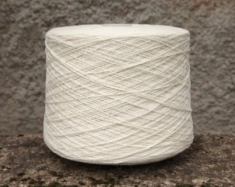 Yak silk wool merino yarn on cone, 2/12Nm, light fingering/sock weight yarn for knitting, weaving and crochet, per 100g