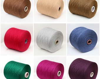 100% wool merino yarn on cone, lace weight yarn for knitting, weaving and crochet, per 100g
