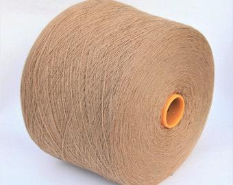 100% baby camel hair lace weight yarn on cone, knitting yarn, weaving yarn, crochet yarn
