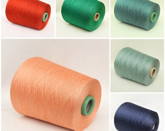 100% japanese silk lace weight yarn on cone, knitting yarn, weaving yarn, crochet yarn