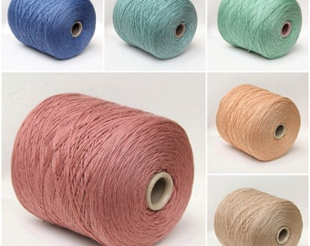 100% wool merino yarn on cone, sport weight yarn for knitting, weaving and crochet, per 100g