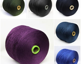 100% cotton yarn on cone, lace weight yarn for knitting, weaving and crochet, amigurumi yarn, per 100g