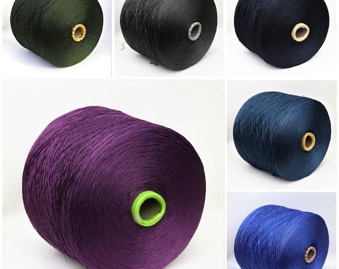 100% cotton yarn on cone, lace weight yarn for knitting, weaving and crochet, amigurumi yarn, per 100g