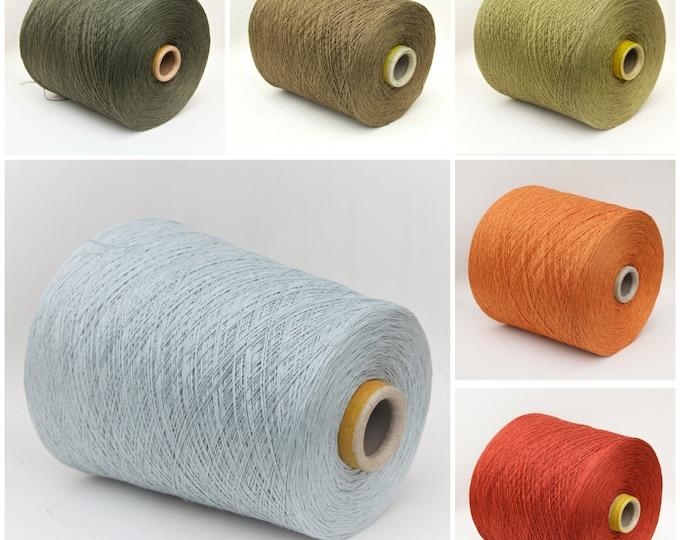 Linen/silk lace weight yarn on cone, knitting yarn, weaving yarn, crochet thread