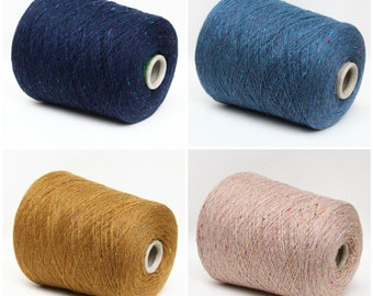 100% cashmere yarn on cone, lace weight yarn for knitting, weaving and crochet, per 100g