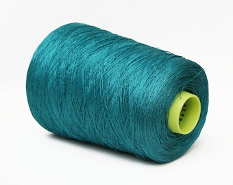 100% linen yarn on cone, 2/26Nm lace weight yarn for knitting, weaving and crochet, per 100g