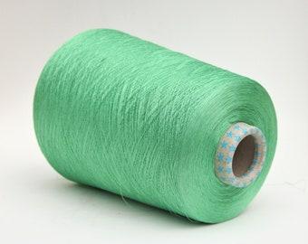 Silk/stainless steel yarn on cone, per 50g