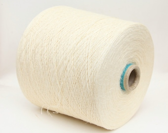 Silk/linen yarn on cone, undyed lace weight yarn for knitting, weaving and crochet, per 100g