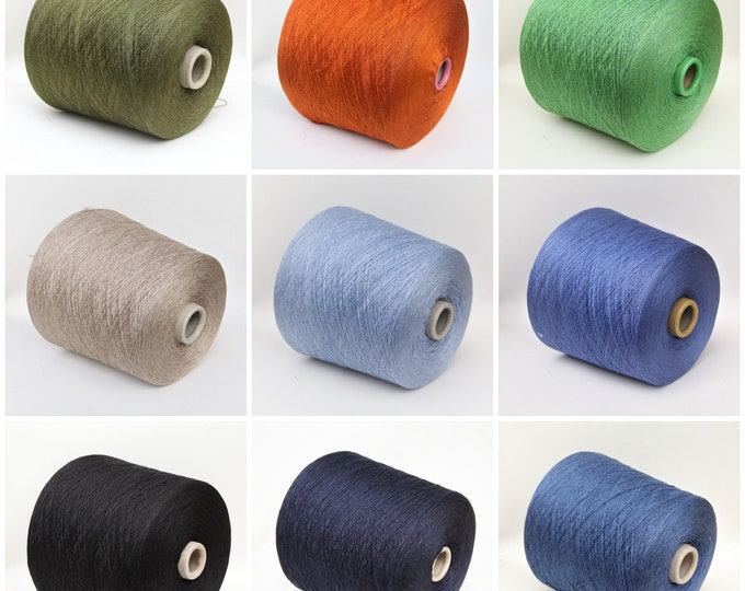 100% silk yarn on cone, lace weight yarn for knitting, weaving and crochet, per 100g