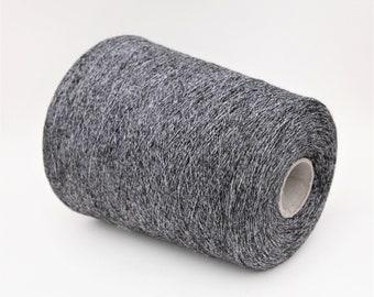 Alpaca/silk/cotton yarn on cone, lace weight knitting yarn, weaving yarn, crochet thread