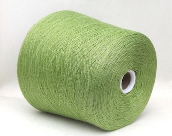 Milk fiber and wool merino yarn on cone, lace weight yarn for knitting, weaving and crochet, per 100g
