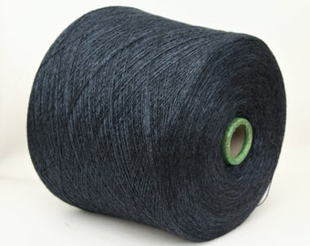 Cashmere silk yarn on cone, 2/27Nm, lace weight yarn for knitting, weaving and crochet, per 100g