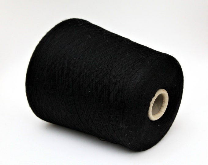 100% wool merino lace weight yarn on cone, knitting yarn, weaving yarn, crochet yarn