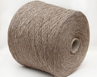 Yak cashmere wool merino yarn on cone, 2/10Nm, fingering/sock yarn for knitting, weaving and crochet, per 100g