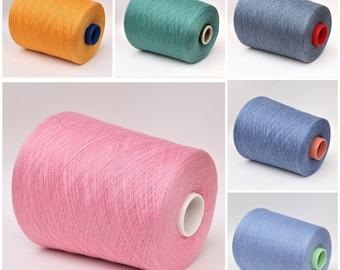 Cotton/silk/cashmere lace weight yarn on cone, knitting yarn, weaving yarn, crochet thread