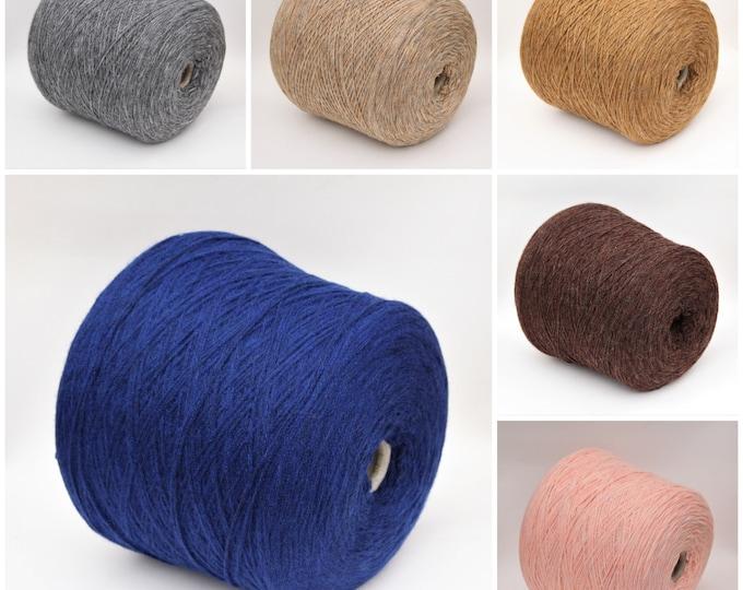 Alpaca blend fingering weight yarn on cone, knitting yarn, weaving yarn, crochet thread