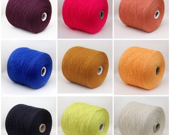100% wool merino yarn on cone, fingering/sock weight yarn for knitting, weaving and crochet, per 100g