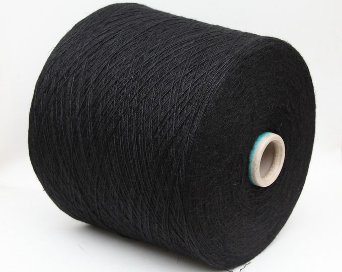 Silk/linen yarn on cone, lace weight yarn for knitting, weaving and crochet, per 100g