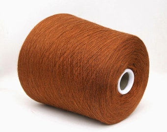 Milk fiber/wool merino yarn on cone, lace weight yarn for knitting, weaving and crochet, per 100g