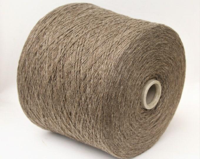 Yak/cashmere/wool merino fingering weight yarn on cone, weaving yarn, knitting yarn, crochet thread