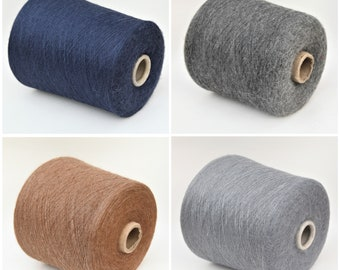Alpaca/silk lace weight yarn on cone, knitting yarn, weaving yarn, crochet thread