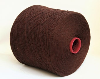 Cashmere/silk/wool merino lace weight yarn on cone, knitting yarn, weaving yarn, crochet thread