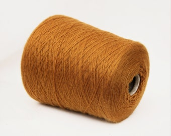 100% cashmere yarn on cone, 2/11Nm fingering sock weight yarn for knitting, weaving and crochet, per 100g