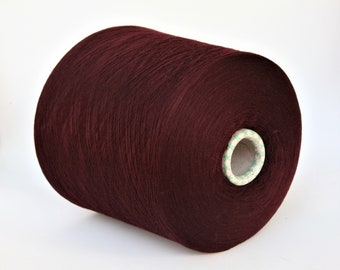 100% wool merino yarn on cone, per 100g