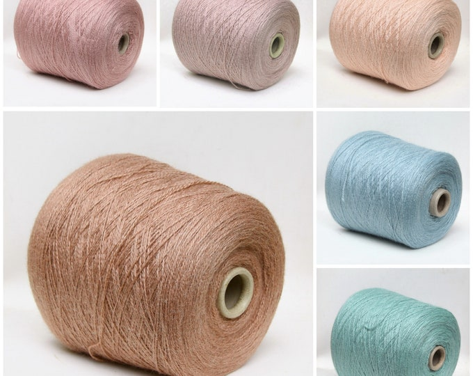 Alpaca silk yarn on cone, fingering/sock weight yarn for knitting, weaving and crochet, per 100g