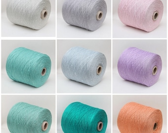 100% japanese mulberry silk yarn on cone, lace weight yarn for knitting, weaving and crochet, 900g