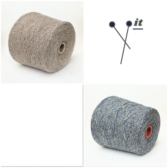 Cashmere/silk/wool merino yarn on cone, soft tweed yarn for knitting, weaving and crochet, per 100g
