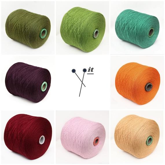 100% wool merino yarn on cone, fingering / sock weight yarn for knitting, weaving and crochet, per 100g