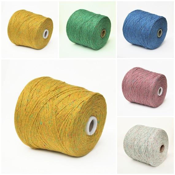 Silk / wool merino yarn on cone, soft tweed yarn for knitting, weaving and crochet, 900g cone