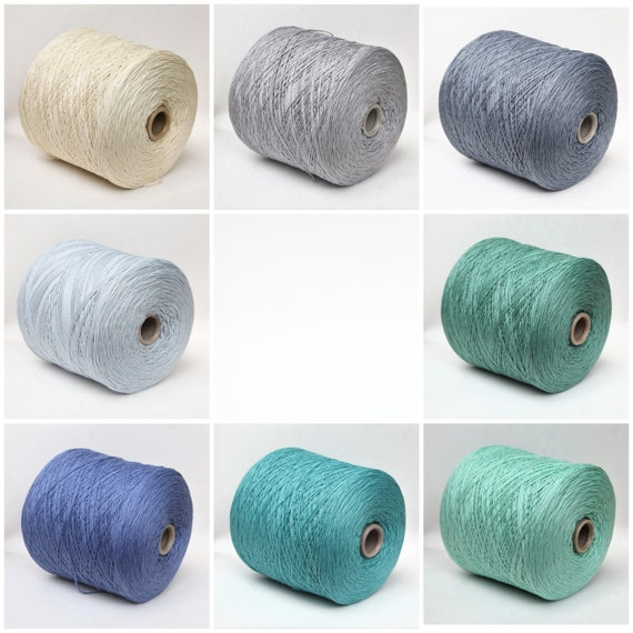 Cashmere cotton yarn on cone, sport weight yarn for knitting, weaving and crochet, per 100g