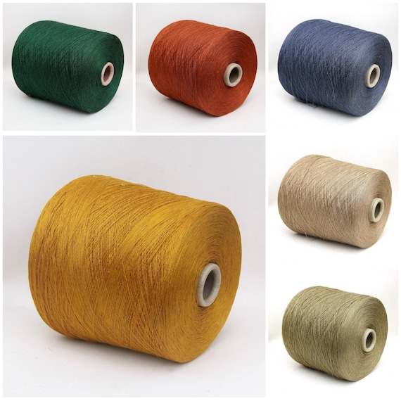 100% linen yarn on cone, 2/36Nm lace weight yarn for weaving, knitting and crochet, per 100g