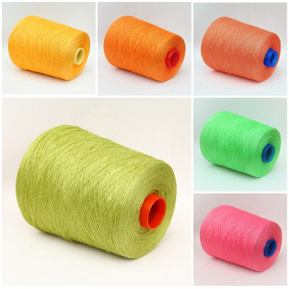 100% linen yarn on cone, lace weight yarn for knitting, weaving and crochet, per 100g
