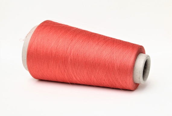 Silk/stainless steel yarn on cone, lace yarn for knitting, weaving and crochet, per 50g