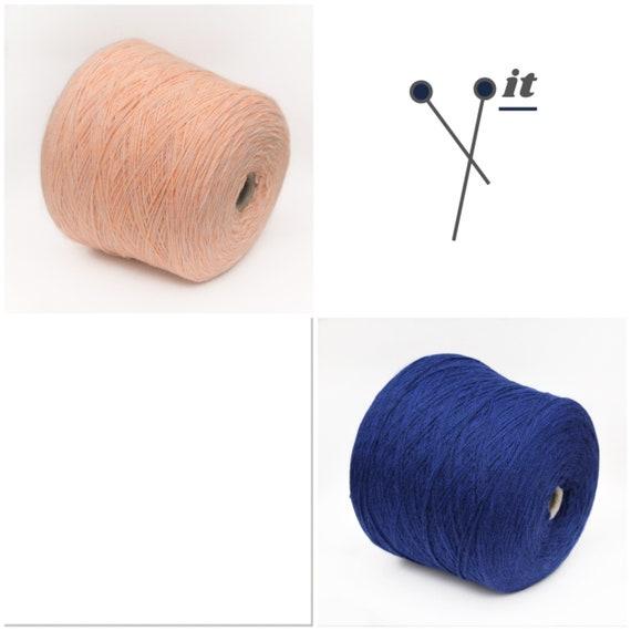 Alpaca blend yarn on cone, fingering/sock weight yarn for knitting, weaving and crochet, per 100g