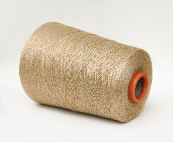 Baby camel/silk yarn on cone, lace weight yarn for knitting, weaving and crochet, per 100g