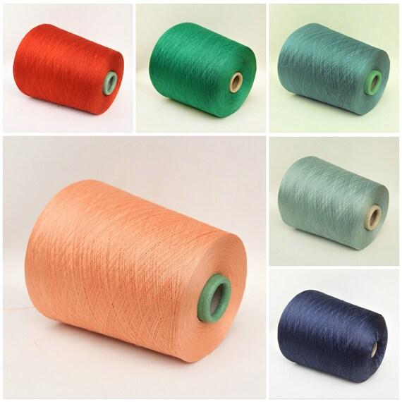 100% japanese silk lace weight yarn on cone, knitting yarn, weaving yarn, crochet yarn