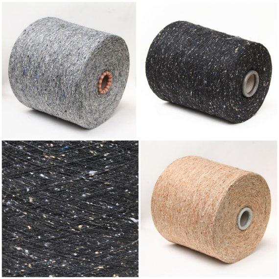 Silk blend yarn on cone, weaving yarn, knitting yarn, crochet thread