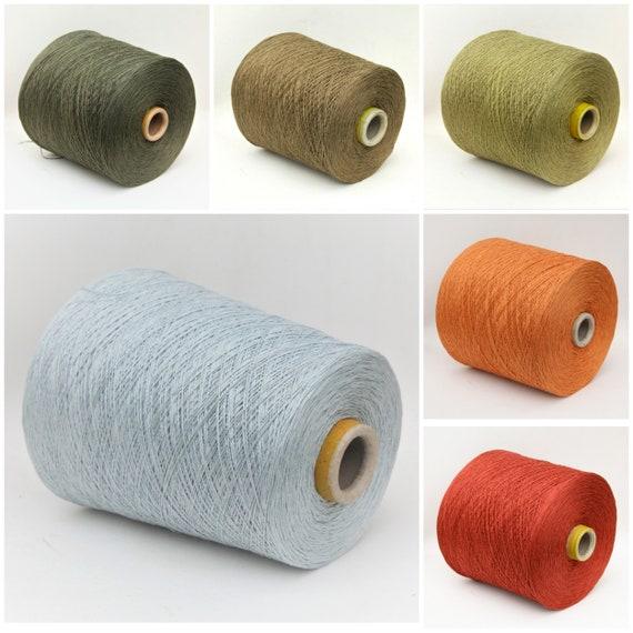 Linen silk yarn on cone, lace weight knitting yarn, weaving yarn, crochet thread, per 100g