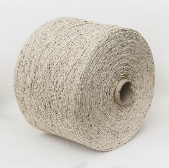 100% noil (bourette) silk yarn on cone, lace weight yarn for knitting, weaving and crochet, per 100g